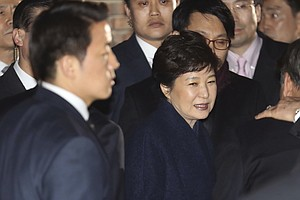 Ousted South Korean President Leaves Presidential Palace