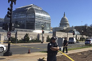 Suspect Arrested Near U.S. Capitol After Officers 'Nearly...