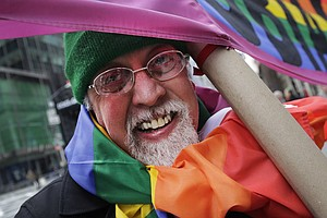 Designer Of Rainbow Flag, Enduring Symbol For Gay Rights,...