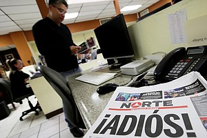 Mexican Newspaper Shuts Down In 'Act Of Protest' After Jo...