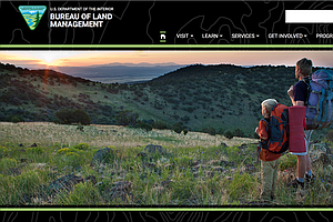 BLM Replaces Mountain Landscape Photo With Coal Seam On Home Page