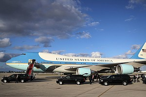 Trump's Travel Costs Add Up, Setting Him On Path To Outspend Obama