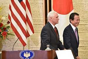 In Japan, Vice President Pence Pushes For Bilateral Trade Deal