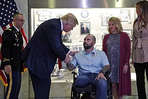 Trump Awards Purple Heart In First Visit To Walter Reed Military Hospital