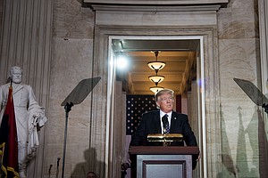 At Holocaust Remembrance Ceremony, Trump Vows To Confront...