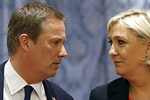 Marine Le Pen Aligns Herself With Mainstream Onetime Rival