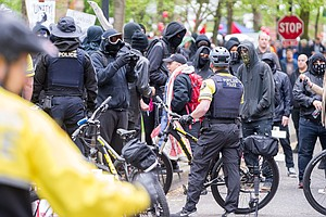 Portland Police Arrest 25, Saying A May Day Rally Devolve...