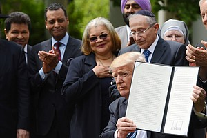 In Name Of Religious Liberty, Trump Says: 'Honor And Enforce' Existing Law