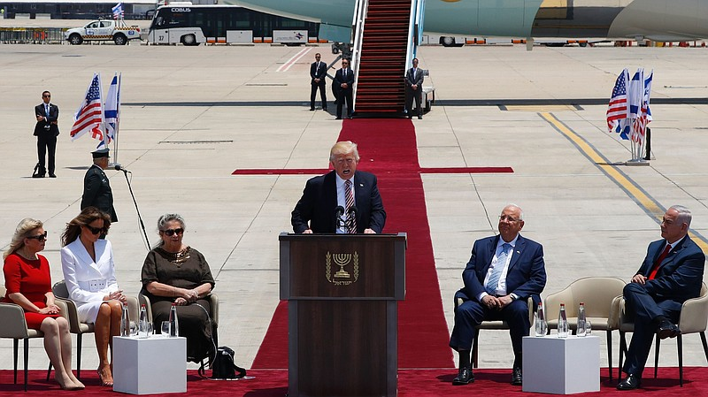Image result for trump leaves saudi arabia for israel may 22, 2017 trump wife and king