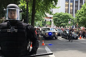 Trump Supporters And Counter-Protesters Collide In Portland, Ore.