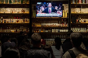 Scenes From #ComeyDay, As Bars Hold Watch Parties For Hearing On Trump And Ru...
