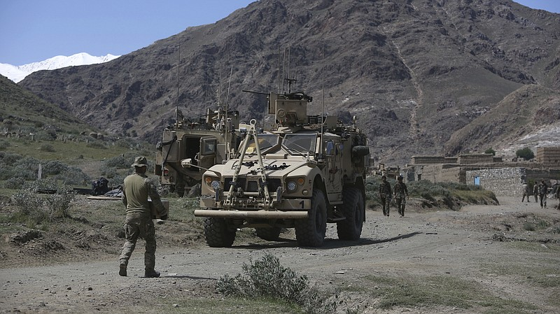 U.S. forces and Afghan commandos in April in Asad Khil village, east of Kabul...