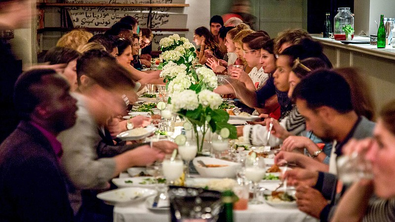These Dinner Parties Serve Up A Simple Message Refugees