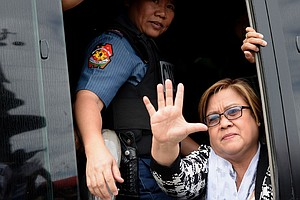 Jailed Philippine Senator: 'I Won't Be Silenced Or Cowed'