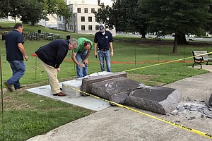 Arkansas' Ten Commandments Monument Lasted Less Than 24 Hours