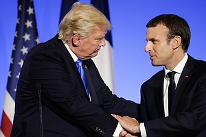 In Paris, Trump Defends Son's Meeting With Russian Lawyer