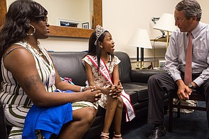 Her Own Medical Future At Stake, A Child Storms Capitol Hill