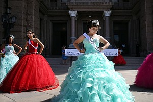 With Speeches And Bright Dresses, Quinceañeras Protest Te...