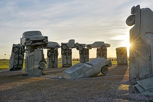 As Eclipse Madness Sweeps U.S., A Stonehenge Made Of Cars Prepares