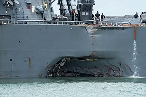 Search For 10 Missing Launched Off Singapore After U.S. Destroyer, Tanker Col...
