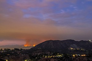 L.A. Area Wildfire Spurs Hundreds Of Evacuations, Smoke K...