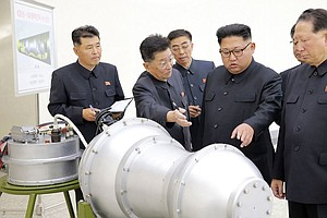 North Korea Brandishes What It Says Is A Missile-Ready H-...