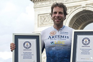 Around The World In Not Quite 80 Days, Cyclist Smashes Re...