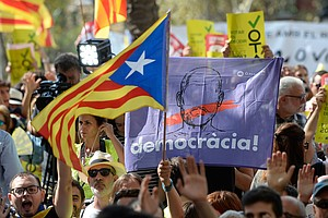 In Catalonia, Thousands Protest Spanish Attempts To Stop ...