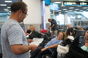 Frustrations Mount At Miami Airport As Passengers To Puer...