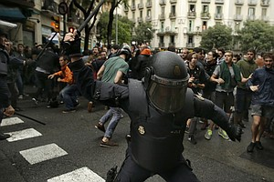 'Illegal' Independence Referendum Turns Violent As Police And Pro-Separatists...