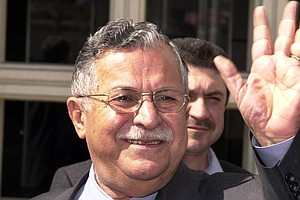As Kurdish Leader And Iraqi President, Jalal Talabani Bro...