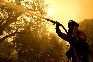 Wildfires Rage In California Wine Country, Leaving At Lea...