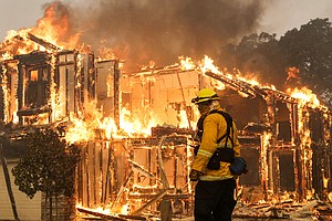 'Public Calamity' As California Wildfires Leave Apocalyptic Scenes In Wine Co...
