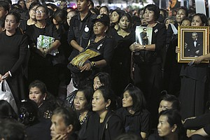 Tens Of Thousands Gather In Bangkok Ahead Of Royal Cremat...