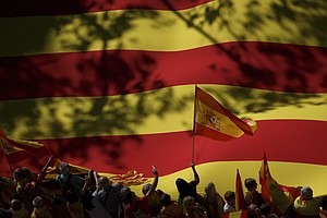 Hundreds Of Thousands Take To Barcelona Streets Against Catalan Independence