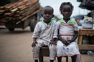PHOTOS: People Think The Twins Of Abidjan Can Make A Wish...