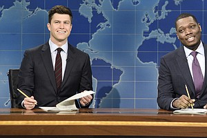 SNL Skewers Alum Al Franken, Trump Sons