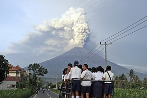 Bali's Airport To Reopen As Volcano Continues To Belch An...