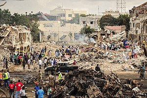 Mogadishu Truck Bomb's Death Toll Now Tops 500, Probe Com...