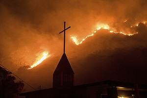 California Wildfires Spread, Spurred On By Strong Winds