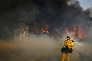 Firefighters Gain Ground On SoCal Wildfires Even As Winds Continue To Vex