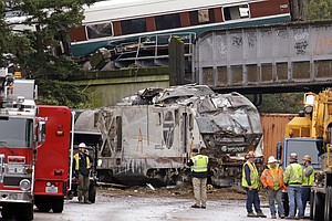 NTSB: Amtrak Washington Train Traveling At 80 MPH In 30 M...