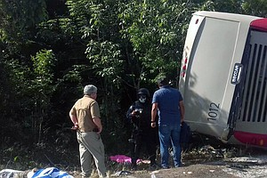 12 Dead After Crash Of Tourist Bus Headed For Mayan Ruins...