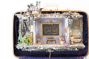 See Dioramas Of Refugee Homes, Each Re-Created In An Old-Fashioned Suitcase
