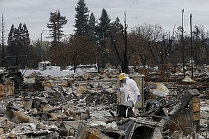 Calif. Fire Victims Put Up Christmas Trees Where Homes On...