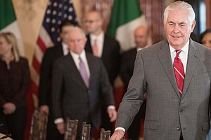For Rex Tillerson, A Rocky First Year As Trump's Secretar...