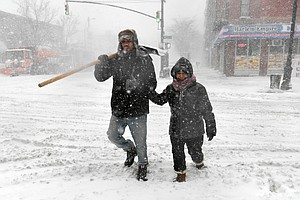 Blizzard Conditions Hit New England As Massive Winter Sto...