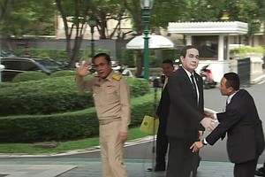Thai Premier To Reporters: Talk To The Cardboard Cut-Out