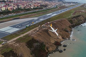 Plane Skids Off Runway In Turkey Onto Cliff Edge, No Inju...