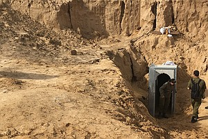 Israel Speeds Up Underground Border Wall To Block Gaza Tu...